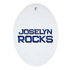 joselyn rocks Oval Ornament