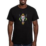 Tribal Cow Skull Men's Fitted T-Shirt (dark)