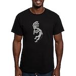Granite Kokopelli Men's Fitted T-Shirt (dark)