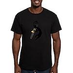 Kokopelli Trombone Men's Fitted T-Shirt (dark)
