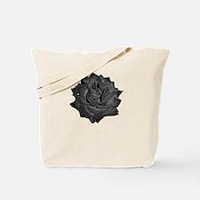 Single Black Rose Tote Bag