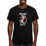 Geckos Rock Men's Fitted T-Shirt (dark)