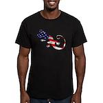 Gecko Patriotic Men's Fitted T-Shirt (dark)