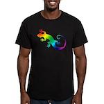 Rainbow Gecko Men's Fitted T-Shirt (dark)