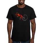 Fire Red Gecko Men's Fitted T-Shirt (dark)