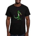 Blues Trumpet Gecko Men's Fitted T-Shirt (dark)