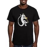 Gecko Trombone Men's Fitted T-Shirt (dark)