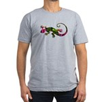Green Purple Gecko Men's Fitted T-Shirt (dark)