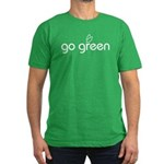 Go Green [text] Men's Fitted Green T-Shirt