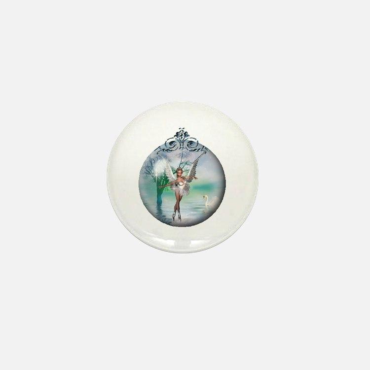 Swan Lake Globe Mini Button