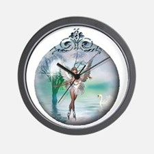 Swan Lake Globe Wall Clock