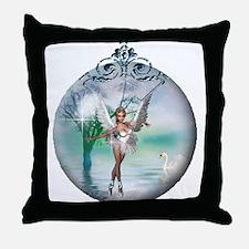 Swan Lake Globe Throw Pillow
