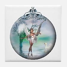 Swan Lake Globe Tile Coaster