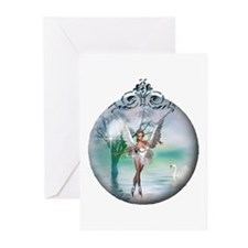 Swan Lake Globe Greeting Cards (Pk of 10)