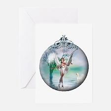 Swan Lake Globe Greeting Cards (Pk of 10)
