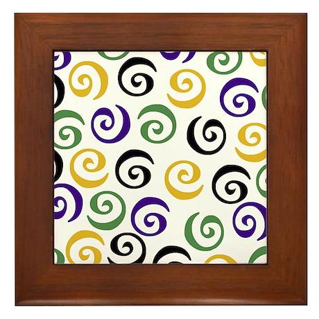 Swirl2 Framed Tile