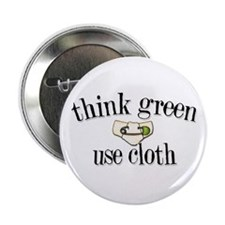 """Think Green 2.25"""" Button (10 pack)"""