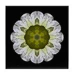 White Petunia IV  Tile Coaster