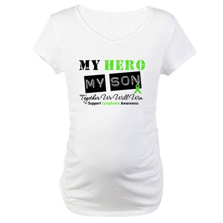 Lymphoma Hero Son Maternity T-Shirt