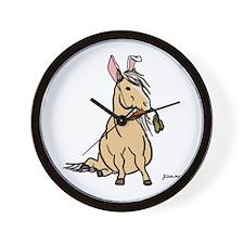 Easter Pony Wall Clock