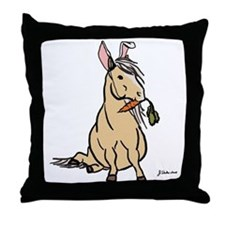 Easter Pony Throw Pillow