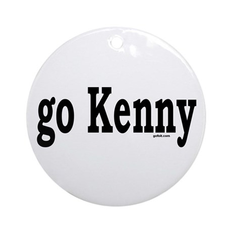 go Kenny Ornament (Round)