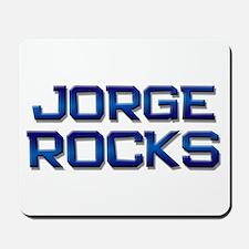 jorge rocks Mousepad