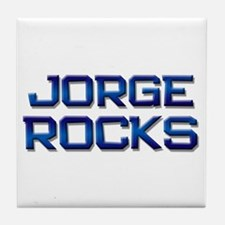 jorge rocks Tile Coaster