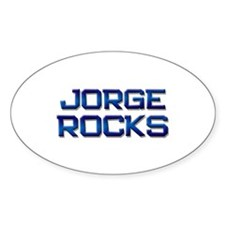 jorge rocks Oval Decal