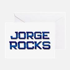 jorge rocks Greeting Card