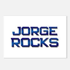 jorge rocks Postcards (Package of 8)