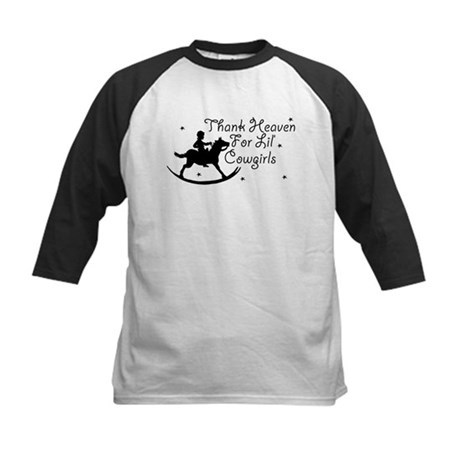 Thank Heaven For Lil' Cowgirl Kids Baseball Jersey
