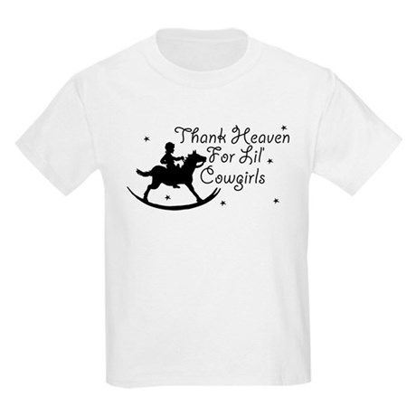 Thank Heaven For Lil' Cowgirl Kids Light T-Shirt
