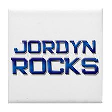 jordyn rocks Tile Coaster