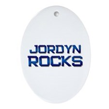 jordyn rocks Oval Ornament