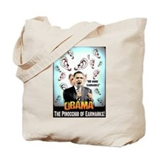 anti obama earmarks Tote Bag