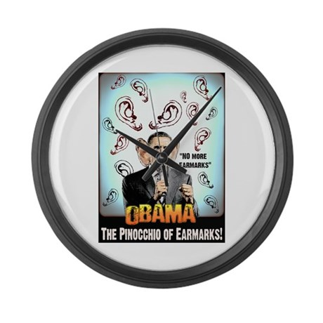 anti obama earmarks Large Wall Clock