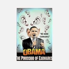 anti obama earmarks Rectangle Magnet