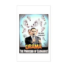 anti obama earmarks Rectangle Decal