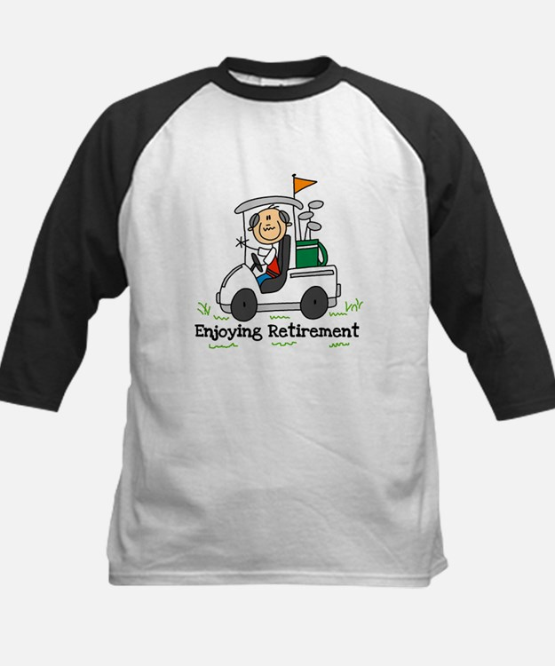 Retired and Golfing Kids Baseball Jersey