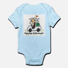 Retired and Golfing Infant Bodysuit