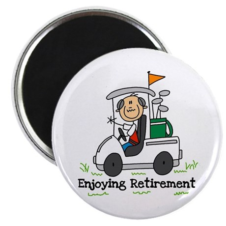 """Retired and Golfing 2.25"""" Magnet (100 pack)"""