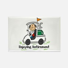 Retired and Golfing Rectangle Magnet
