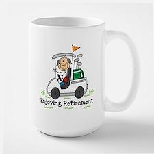 Retired and Golfing Large Mug