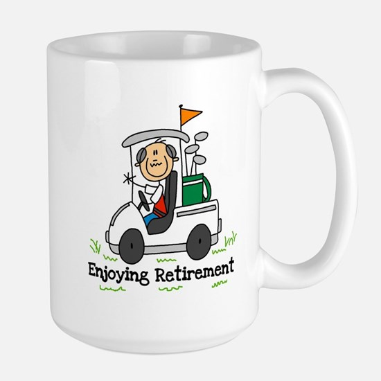 Retired and Golfing Large Mug