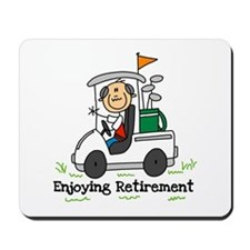 Retired and Golfing Mousepad