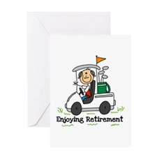 Retired and Golfing Greeting Card