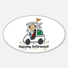 Retired and Golfing Oval Decal