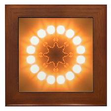Sun Wheel II  Framed Tile