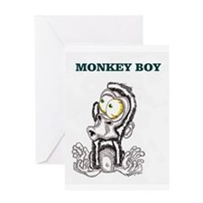 Monkey Boy 2 Greeting Card